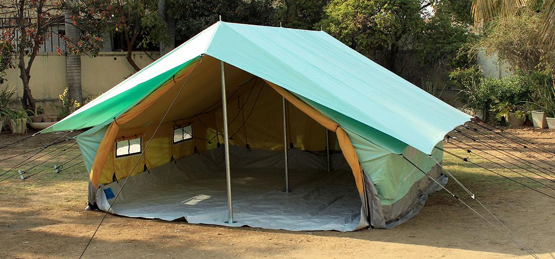 Family Ridge Tent (Double Fly Double Fold) & Relief Tents - Nizam Canvas
